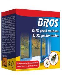 BROS DUOKOMP - Prašak (aktivni sastojak+feromon) i otapalo za premazivanje površina protiv muha