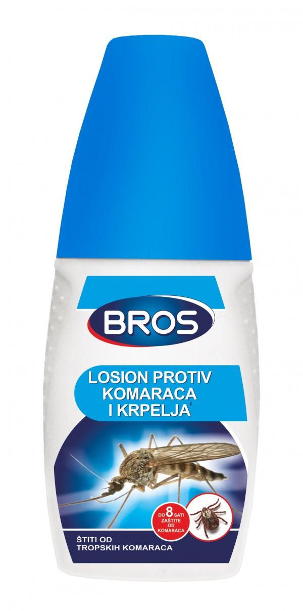BROS Tekući repelent protiv svih vrsta komaraca i krpelja s pumpicom (50 mL)