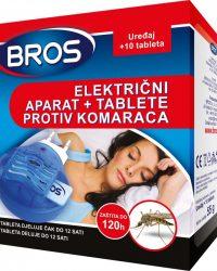 BROS Električni aparat protiv svih vrsta komaraca s tabletama