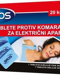 BROS Tablete za električni aparat protiv komaraca (20 kom)