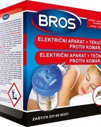 BROS Električni aparat protiv svih vrsta komaraca s tekućinom