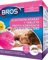 BROS Električni aparat protiv svih vrsta komaraca s tabletama za djecu