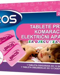 BROS Tablete za električni aparat protiv tigrastih i drugih komaraca za djecu (20 kom)