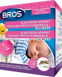 BROS Električni aparat protiv tigrastih i drugih komaraca s tekućim punjenjem za djecu